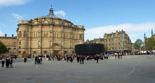 Edinburgh: Bristo Square on Graduation Day