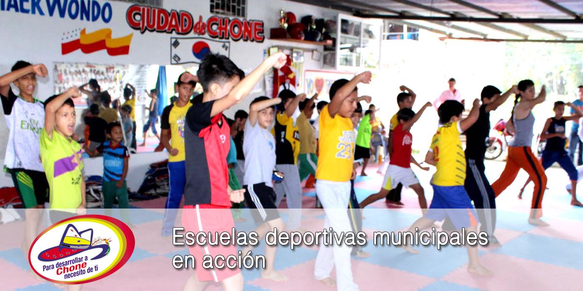 Escuelas deportivas municipales en acción