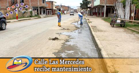 Calle Las Mercedes recibe mantenimiento