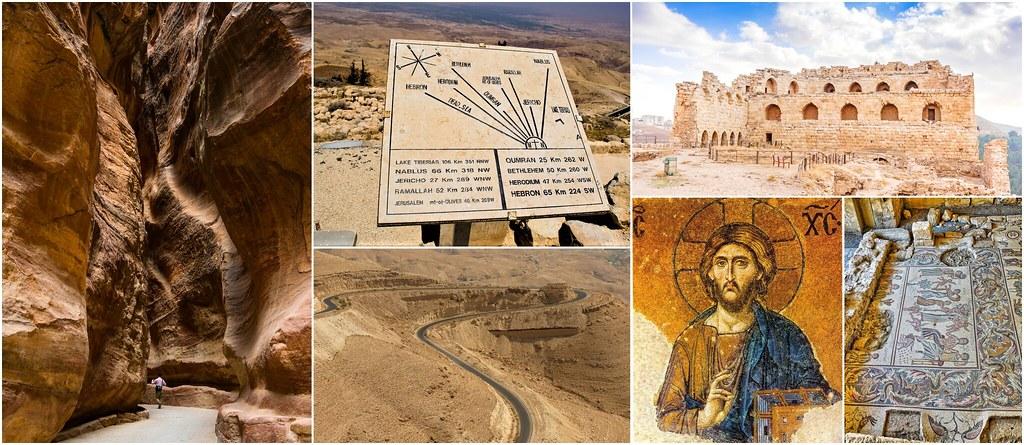 Madaba_ Góra Nebo_ Wadi Mujib_ Kerak, Jordania