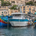 Colorful boats in Mgarr harbor