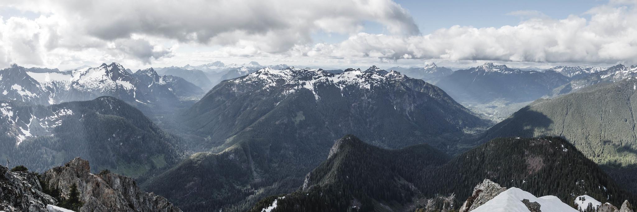 Stillaguamish to Sauk River Valley panoramic view