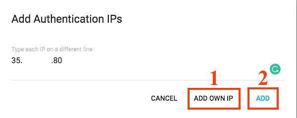 How to add your own IP to IP manager