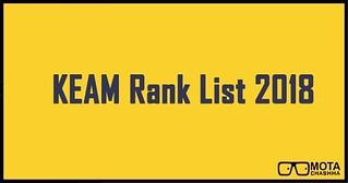 KEAM Rank List 2018