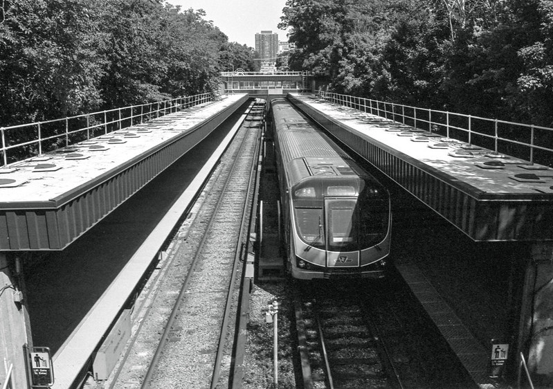 Northbound Train at the Rosedale Subway Station_