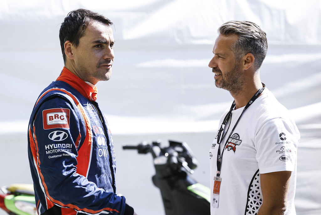MICHELISZ Norbert, (hun), Hyundai i30 N TCR team BRC Racing, portrait, MONTEIRO Tiago (por), Boutsen Ginion Racing, portrait during the 2018 FIA WTCR World Touring Car cup race of Slovakia at Slovakia Ring, from july 13 to 15 - Photo Jean Michel Le Meur / DPPI