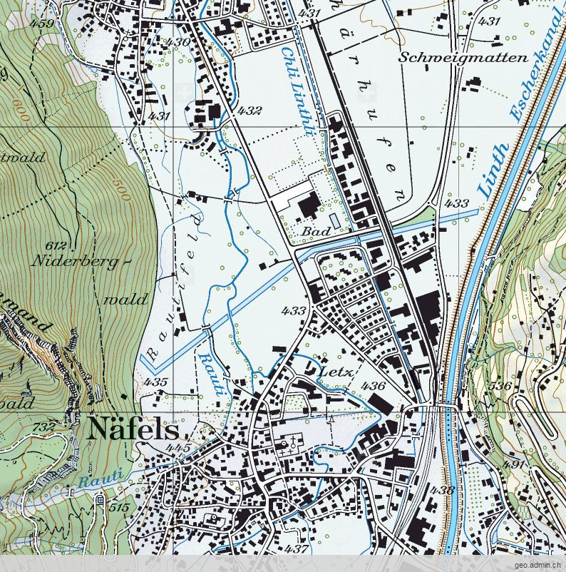 Map of Näfels, Switzerland