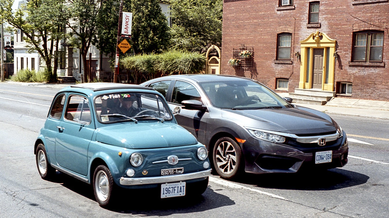 Original Fiat 500 and Honda