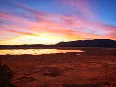 Sunset at Mormon Lake, Arizona