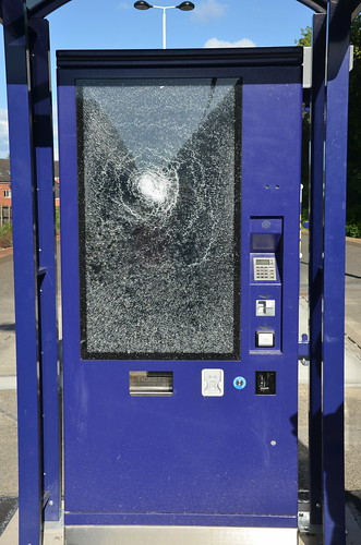 Dunston rail station damaged ticket machine June 18