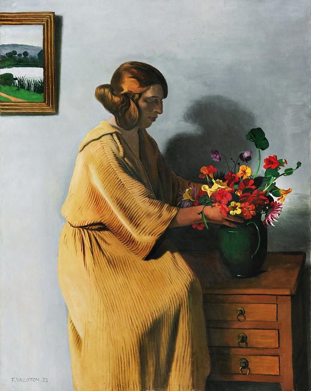 Félix Vallotton - Le bouquet (1922)