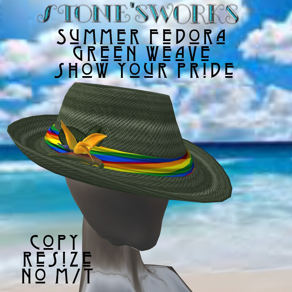 FEDORA Grn Wv Pride Stone's Works- Group Gift out now for Pride Fest