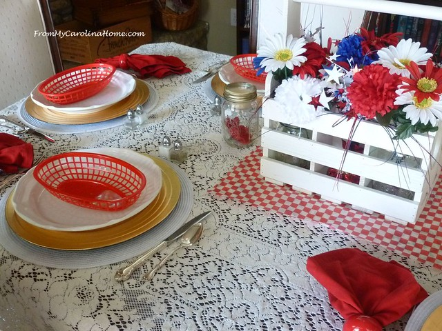 Vintage Fourth Tablescapes at From My Carolina Home