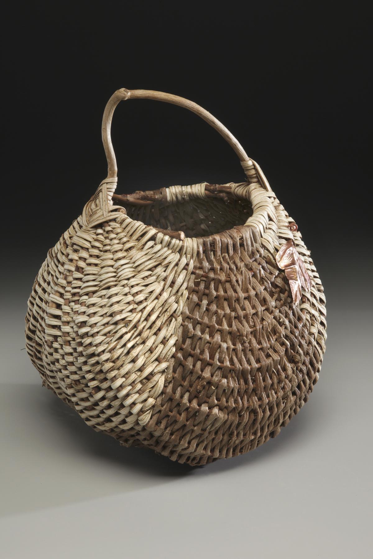 A kudzu basket made in the Appalachian Oriole style by basketmaker Matt Tommey. Photo taken on July 13, 2011.