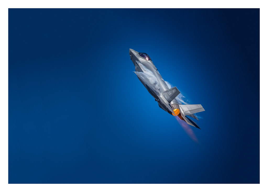 USAF - F35A - Into the blue