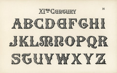11th-century calligraphy fonts from Draughtsman's Alphabets by Hermann Esser (1845–1908). Digitally enhanced from our own 5th edition of the publication.