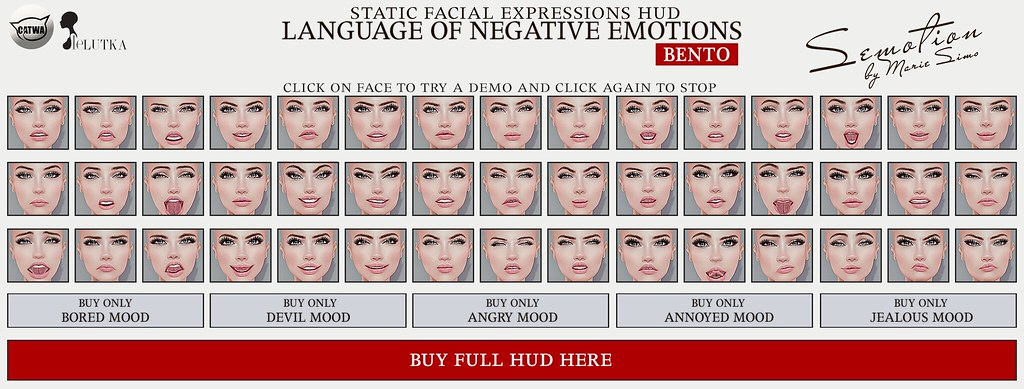 SEmotion Female Bento Facial Expressions FULL HUD v 2
