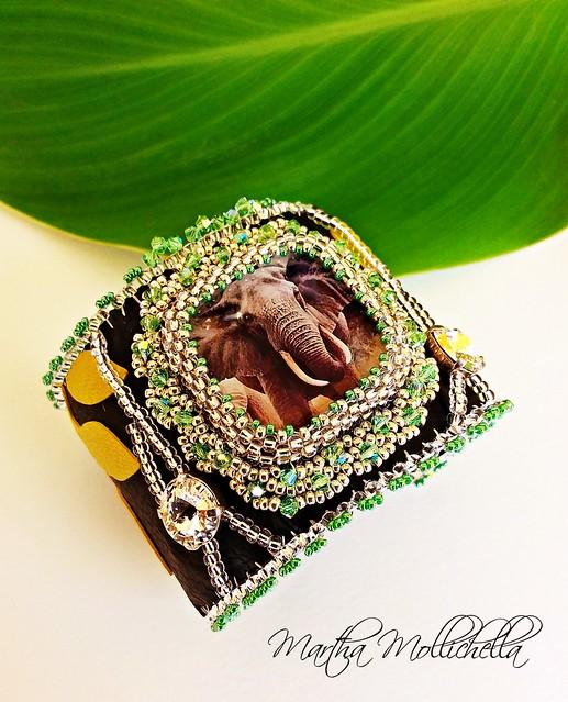 Elephant CUFF elephant bracelet animal spirit