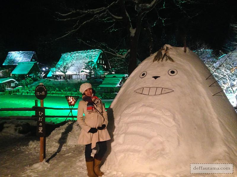 Babymoon ke Jepang - Totoro Snowman