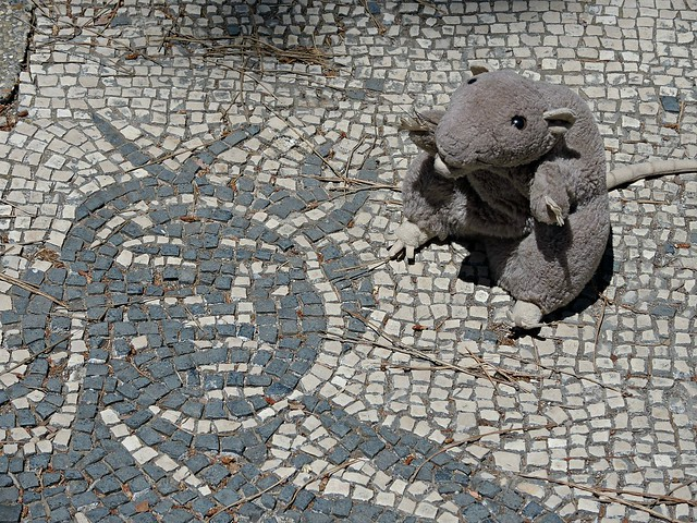Mosaics at Ostia, Italy, Nikon COOLPIX P7700