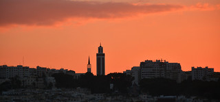Tangier at sunset