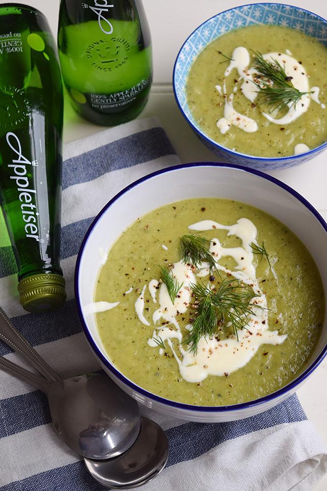 Easy Courgette Soup #soup #courgette #zucchini