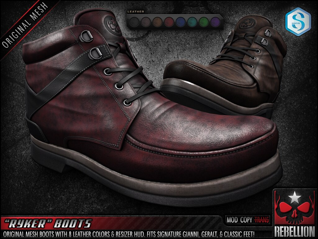 "= REBELLION = ""RYKER"" BOOTS"