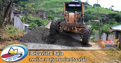 Bellavista Baja recibe mejoramiento vial