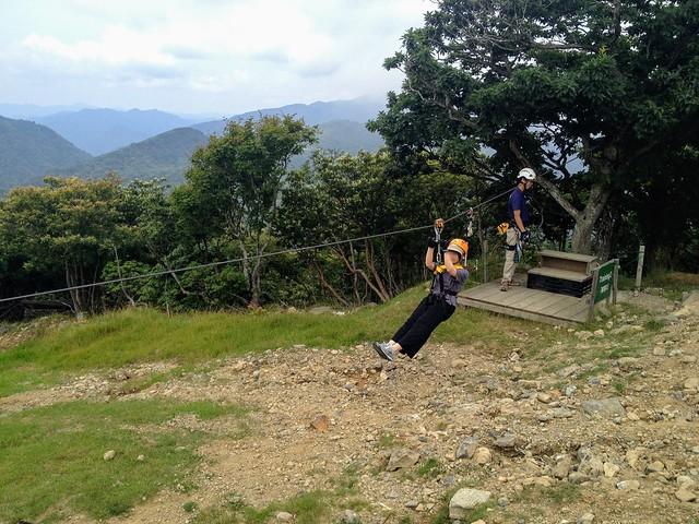 蓬莱山 琵琶湖バレイ ジップライン 練習2
