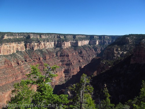 The canyon to the right of Honan Point on the North Rim of Grand Canyon National Park, Arizona