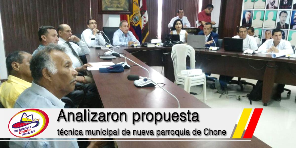 Analizaron propuesta técnica municipal de nueva parroquia de Chone