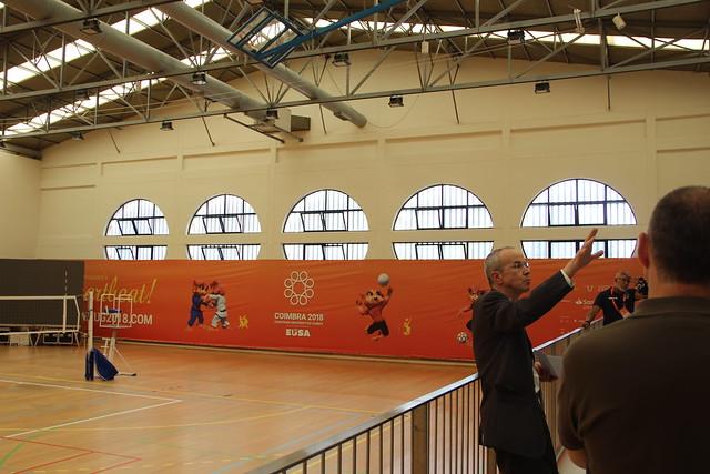 Visita ao Estádio Universitário de Coimbra, a 12 de julho de 2018
