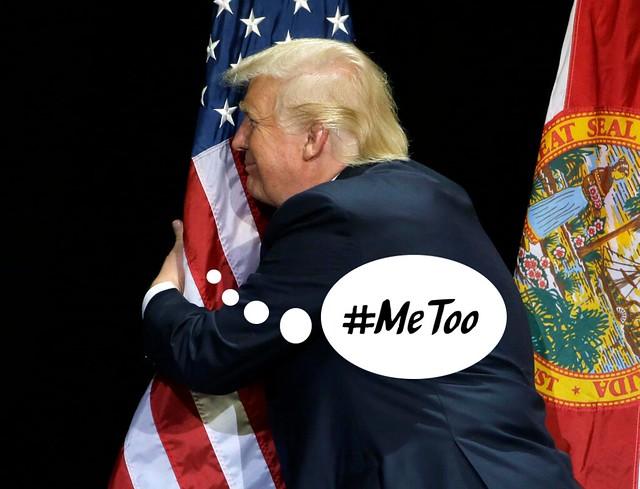 Hugging the flag