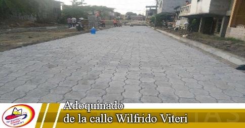 Adoquinado de la calle Wilfrido Viteri