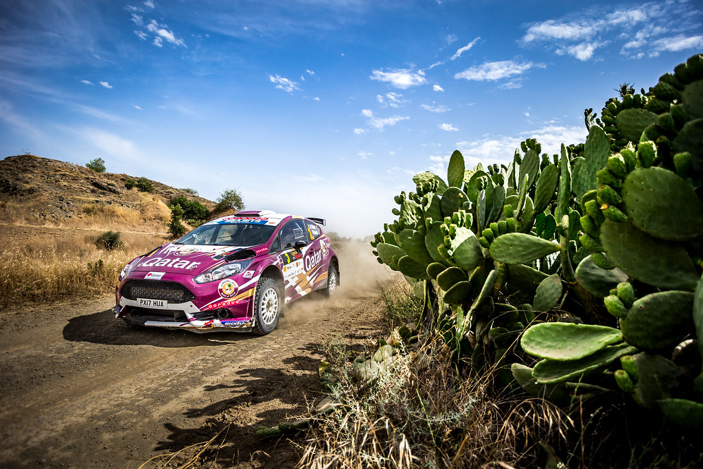 03 ALATTIYAH Nasser (QAT), BAUMEL Matthieu (FRA), NASSER ALATTIYAH, FORD FIESTA R5, action during the 2018 European Rally Championship ERC Cyprus Rally,  from june 15 to 17 at Larnaca, Cyprus - Photo Thomas Fenetre / DPPI