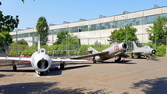 Left to right: Mikoyan-Gurevich Mig.15s serial 744 & 735 and Mig.2