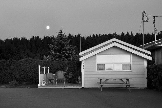 Saint-Flavie lever de lune.