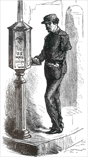 Many disabled Civil War veterans found jobs as letter carriers after the war.