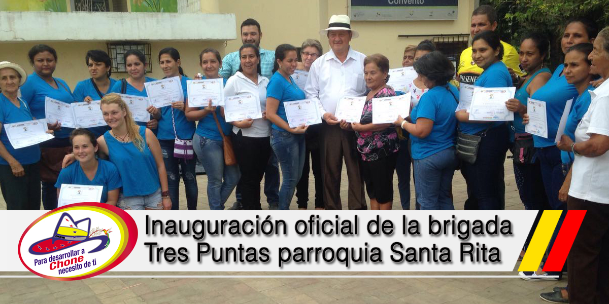 Inauguración oficial de la brigada Tres Puntas parroquia Santa Rita
