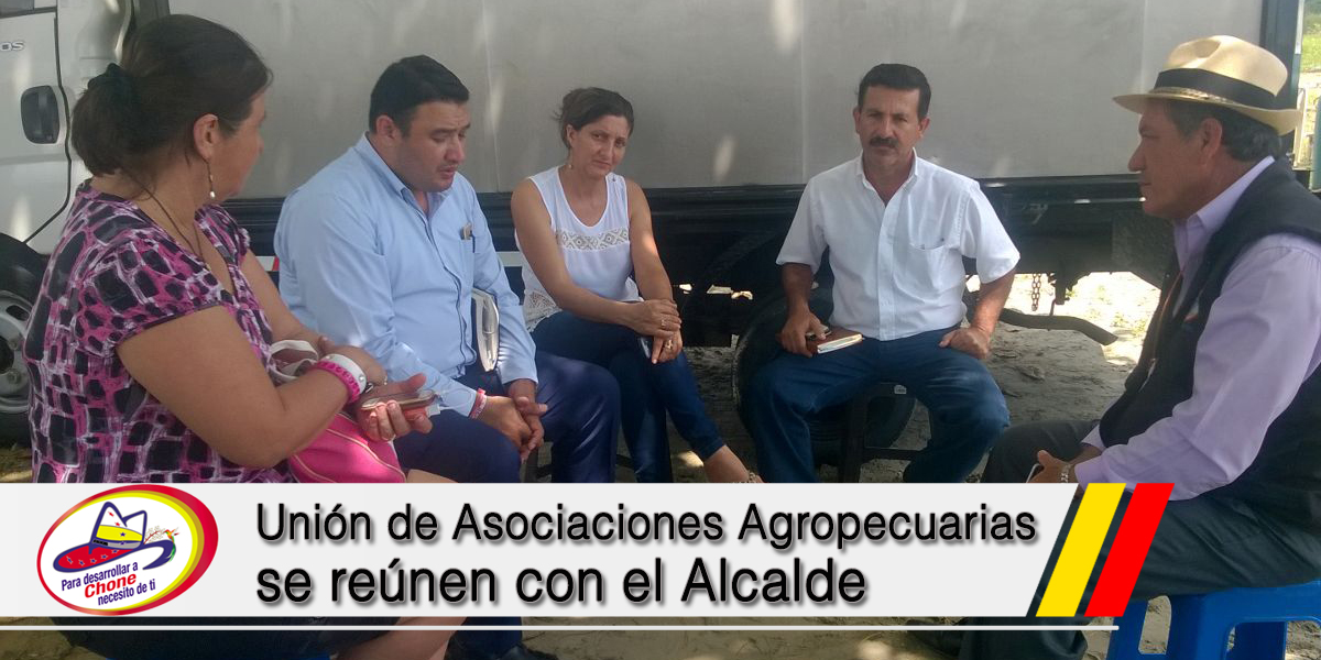 Unión de Asociaciones Agropecuarias se reúnen con el Alcalde