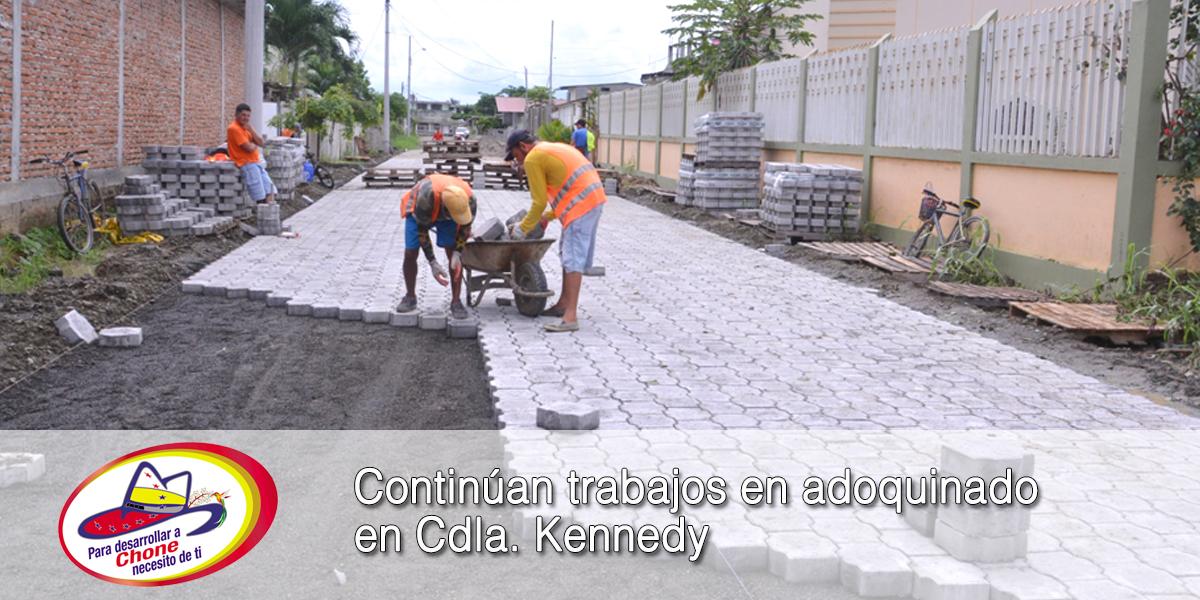 Continúan trabajos en adoquinado en Cdla. Kennedy