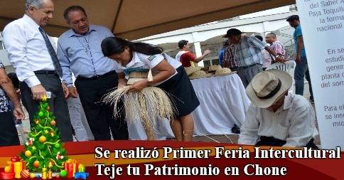 Se realizó Primer Feria Intercultural Teje tu Patrimonio en Chone