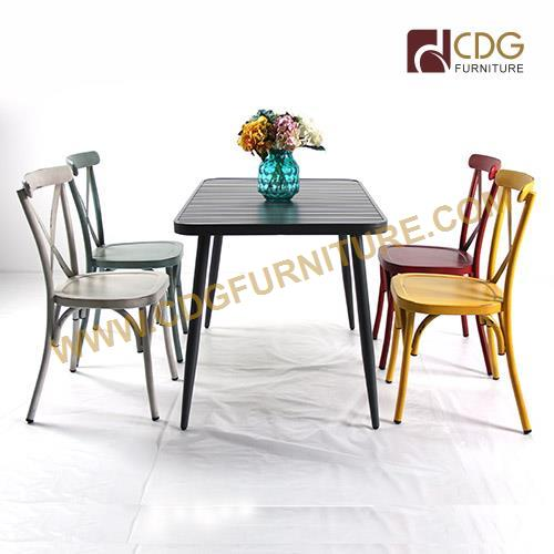 CDG aluminum chair and table