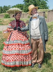 Two Members of the Victorian Dance Ensemble, the performing troupe of the Civil War Dance Foundation, Tour Fort Stevens