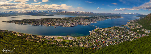 Tromsø Summer panorama, Norway.