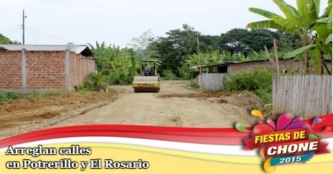 Arreglan calles en Potrerillo y El Rosario
