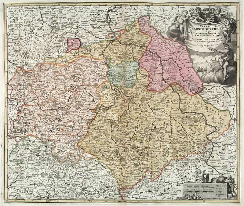 Johann Baptist Homann - Circulus Saxoniae Superioris (1716)