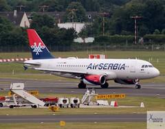 AirSerbia A319-131 YU-APC taxiing at DUS/EDDL