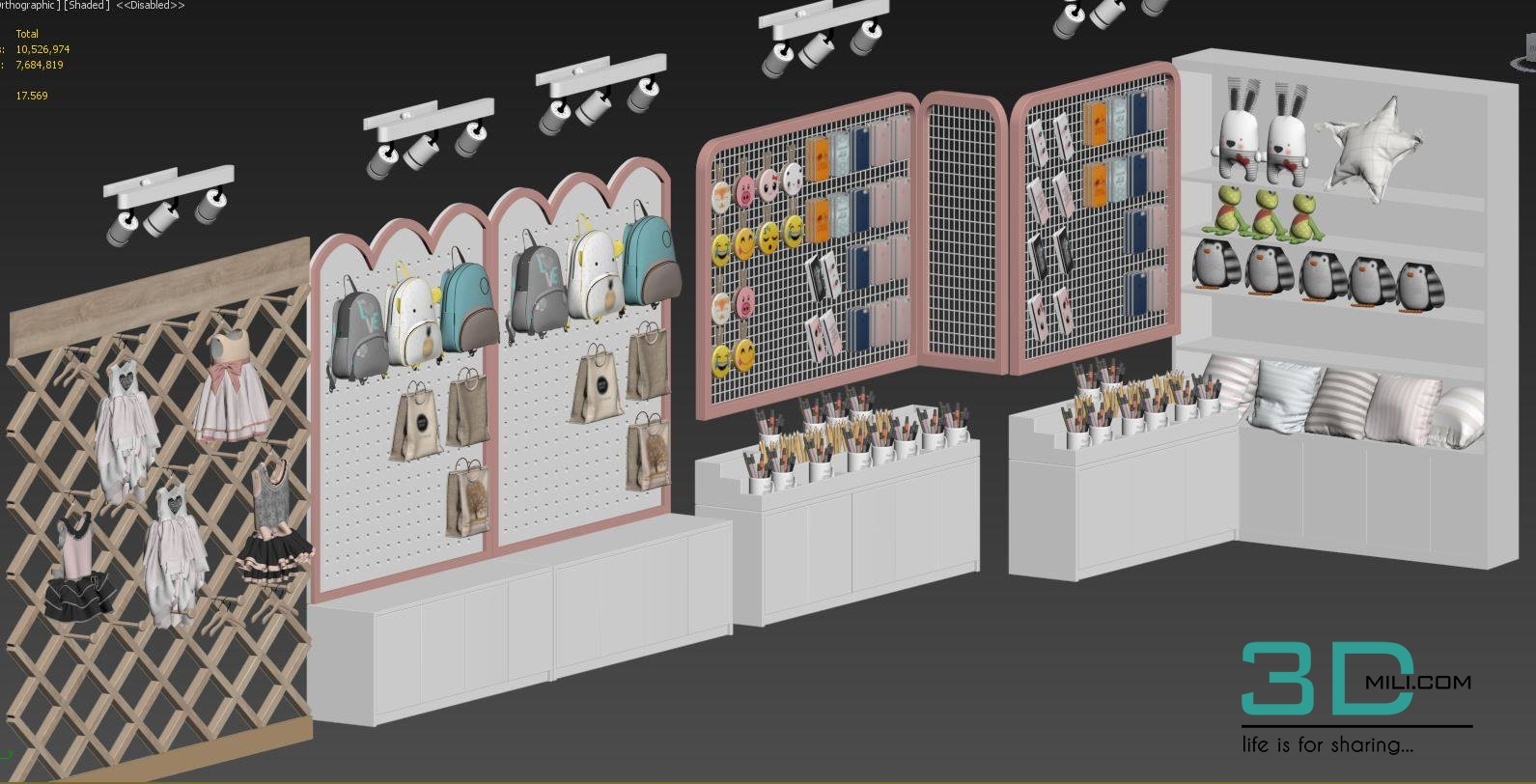 01 Accessories Store 3dsmax File Free Download - 3D Mili