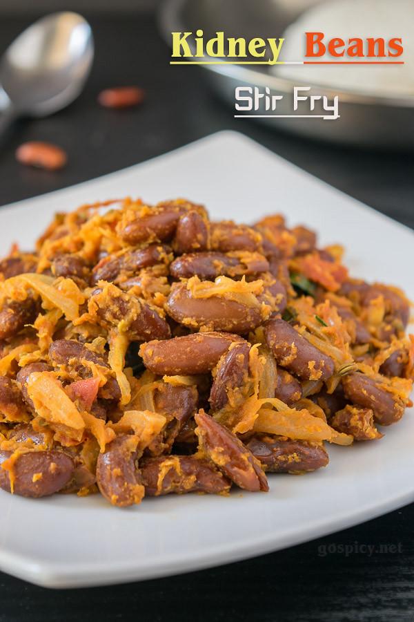 Rajma Masala Fry Recipe by GoSpicy.net